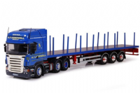 Tekno Scania R Series with Flatbed Trailer R T Keedwell